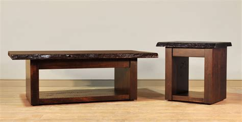 Live Edge Coffee Table   Amish Solid Wood
