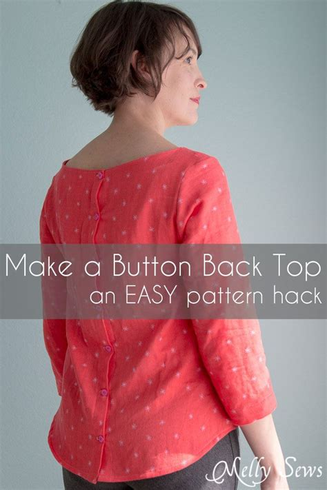 sewing pattern hacks how to make a button back top shoreline boatneck pattern