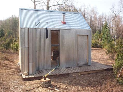 corrugated steel cabin    simple  tasteful