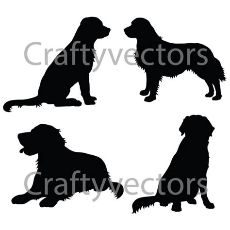 golden retriever silhouette golden retriever silhouettes vector file