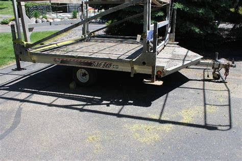 sled bed trailers 1999 sled bed snowmobile trailer buffalo construction
