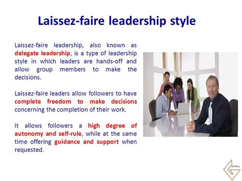 Exles Of A Laissez Faire Leader by Leadership In U Ppt