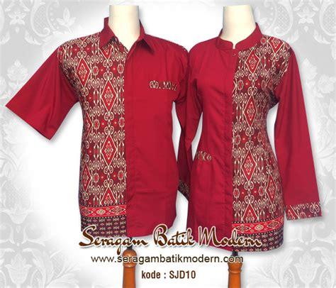 desain baju batik yang indah 10 seragam batik kantor sarimbit modern elegan 1000