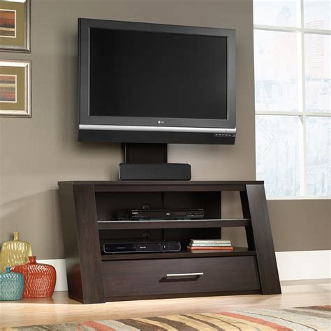tv cabinet with mount sauder select tv stand with optional mount 414143 sauder