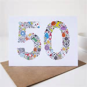 mens things 50th birthday card by mrs l cards notonthehighstreet