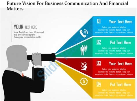 Future Vision For Business Communication And Financial Matters Flat Powerpoint Design Department Presentation Templates