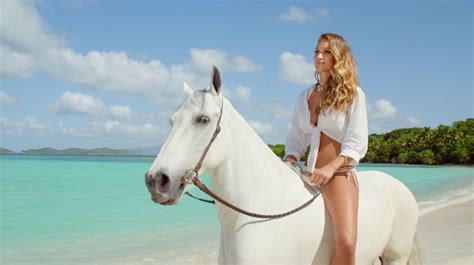 Direct Tv Commercial Actress On Horse | directv ditches rob lowe for hannah davis and a horse in