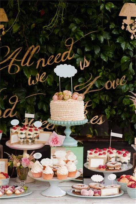 delicious  delightful dessert displays