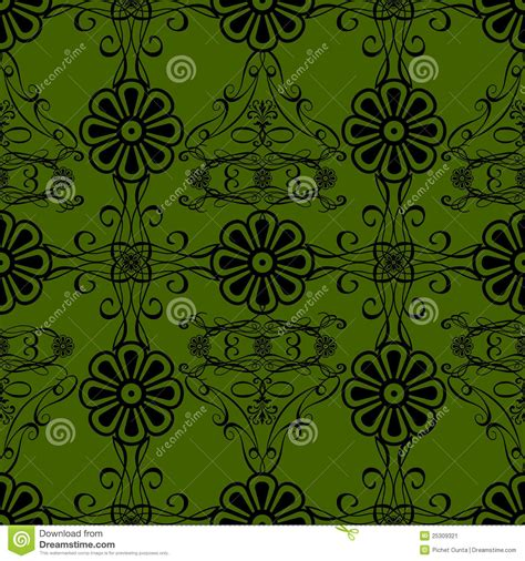 green vintage pattern wallpaper 10677 green flowers vintage style wallpaper background stock