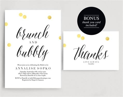Brunch And Bubbly Wedding Shower Invitations