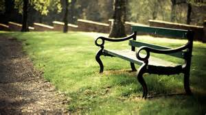 bench in bench in a park