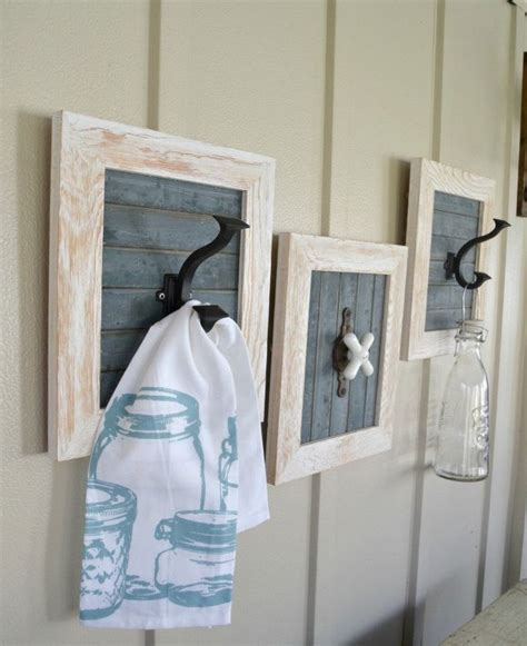 diy farmhouse bathroom hooks hometalk