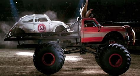 monster truck videos monster truck videos just a car guy only herbie can land on and destroy a