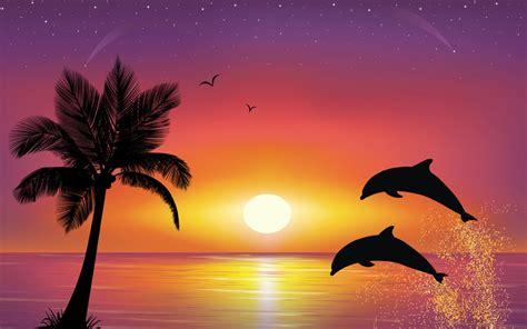 imagenes para fondo de pantalla delfines delfines saltando al atardecer 1680x1050 fondos de