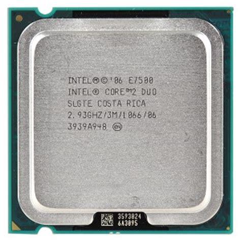 Intel 2 Duo E7500 Tray Fan evertek wholesale computer parts intel 2 duo e7500 2 93ghz 1066mhz 3mb socket 775 dual