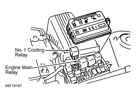 1998 toyota camry fan relay location wiring automotive