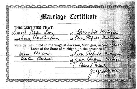 Marriage Records Michigan Genealogy Data Page 55 Notes Pages
