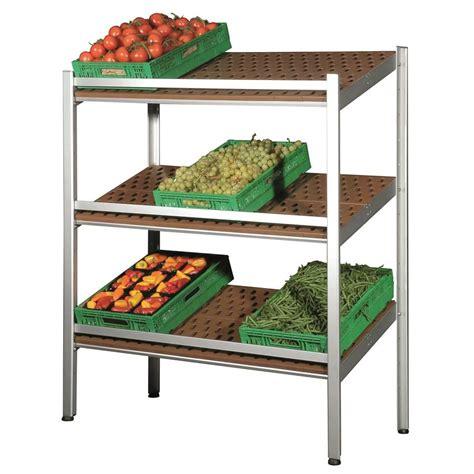 scaffali per frutta e verdura scaffale espositore a parete con ripiani inclinati per