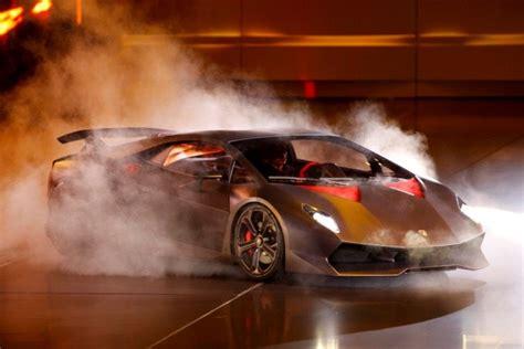 Lamborghini Burnout 2010 Lamborghini Sesto Elemento Concept Lights Up