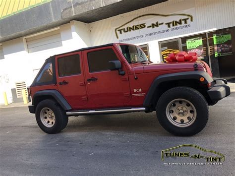 jeep wrangler tint jeep wrangler unlimited car alarm 1 tunes n tint