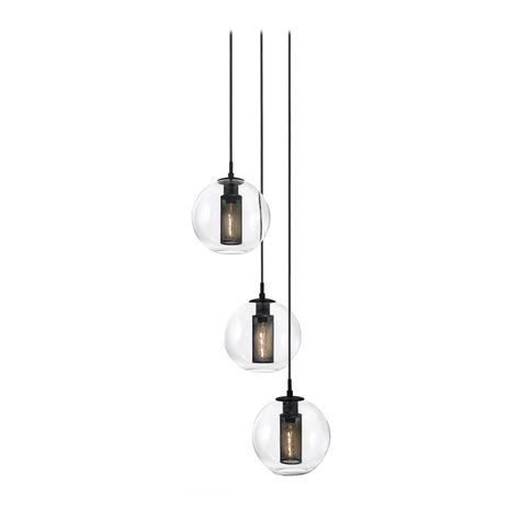 Multi Light Pendants Modern Multi Light Pendant Light With Clear Glass And 3 Lights 4934 97 Destination Lighting