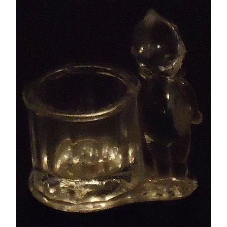 antique glass kewpie candy holder toothpick geo borgfeldt