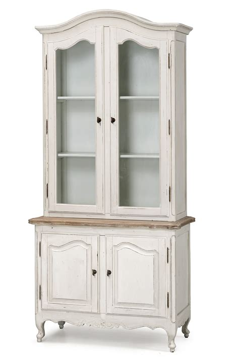 Deep White Bookcase French Provincial Vintage Furniture Classic Display