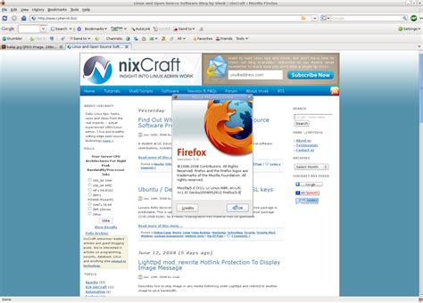 www download mega download of the day firefox browser final 3 0 nixcraft