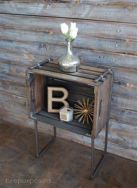 diy rustic industrial seating industrial chic room how to furnish your home with repurposed wine crates