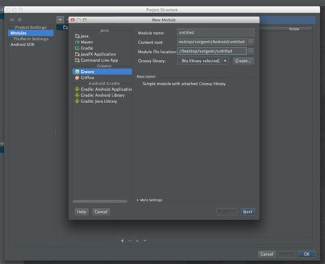 android module android android studio 0 3 2 for os x import module