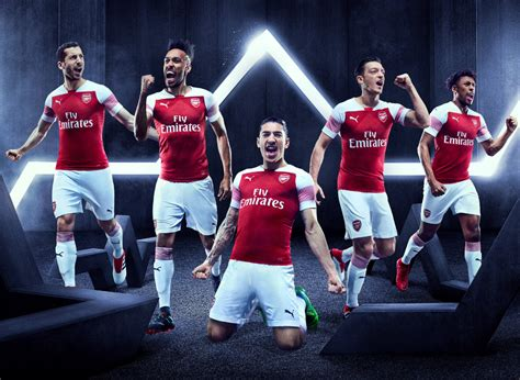arsenal new kit arsenal release new 2018 19 puma home kit first strip of