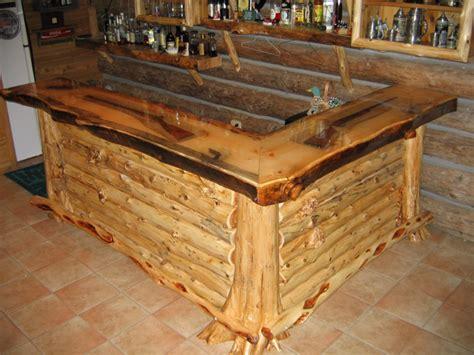Log Bar Tops by Beautiful Bar 171 The Log Builders