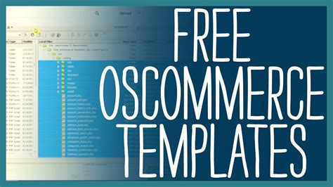 Oscommerce Templates Free How To Tutorial Youtube Oscommerce Templates Free