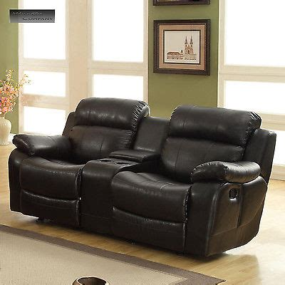 lazy boy black leather recliner new black leather loveseat sofa double glider recliner cup