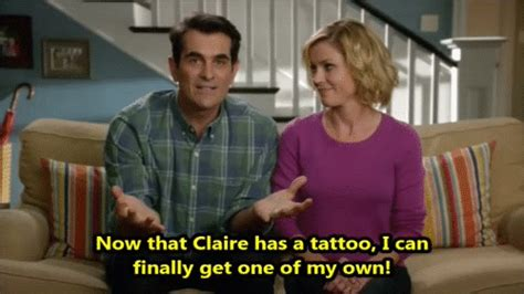 modern family tattoo go deep phil plans a tattoo modern family s6e10 miss m