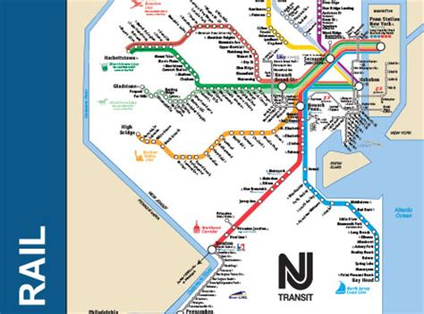 new jersey transit map nj transit rail map my