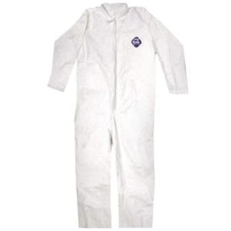 tyvek home depot tyvek no elastic disposable coverall large 14122 the
