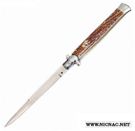 knives switchblades italian switchblades 13 inch no safety stag automatic