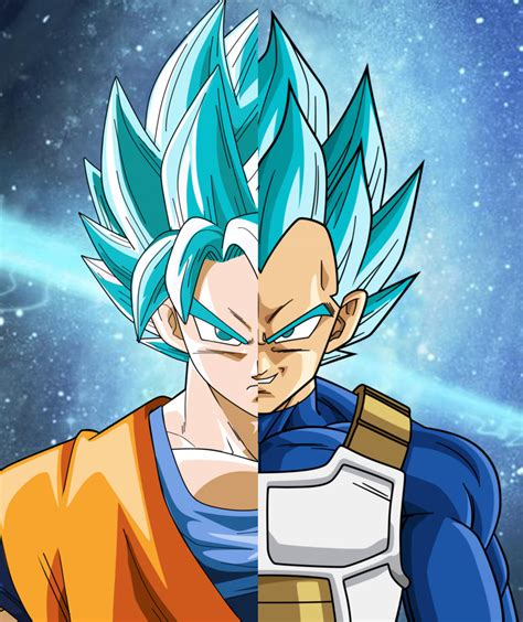 Goku Vegeta Ssj 3 goku and vegeta ssj blue by lightstyles on deviantart