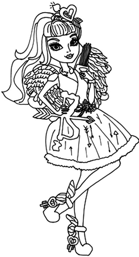 famous cupid    high coloring pages