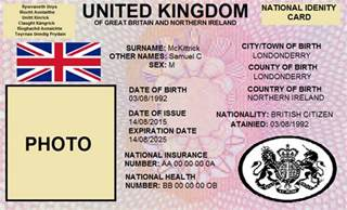 uk id template sam s flags national id card