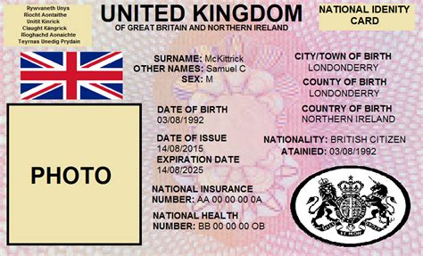 id card template uk sam s flags national id card