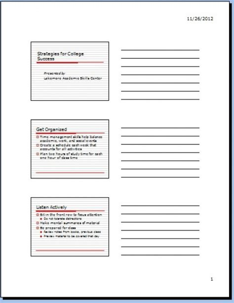 Zettel Drucken by How To Print Handouts With Notes Using Powerpoint 2007