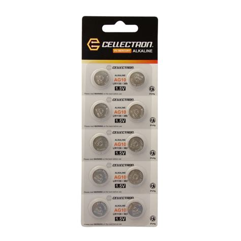 Batere Lr1130 Ag10 ag10 10 alkaline knopfzelle ag10 lr1130 389 1 5v