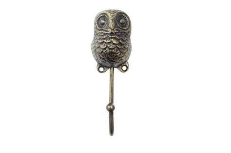 decorative owls wholesale rustic gold cast iron decorative owl hook 6
