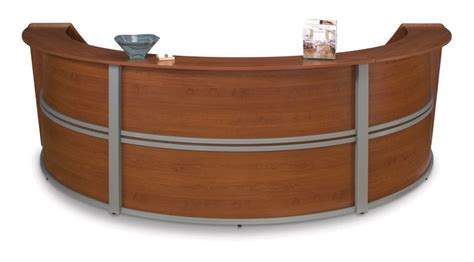 Oval Reception Desk 1pc Oval Modern Contemporary Office Reception Desk Of Mar R9 Ebay