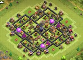 Best coc town hall th8 defense bases 2016 bomb tower cocbases