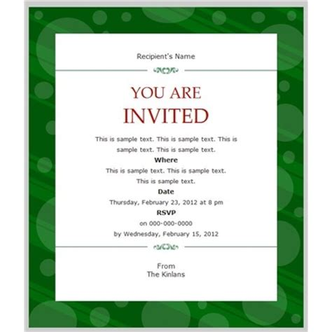Business Invitation Template Exle Mughals Invitation Templates