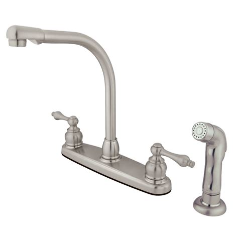 Water Saving Kitchen Faucet by Kingston Brass Gkb718alsp Water Saving High Arch Kitchen Faucet With Lever Handles And