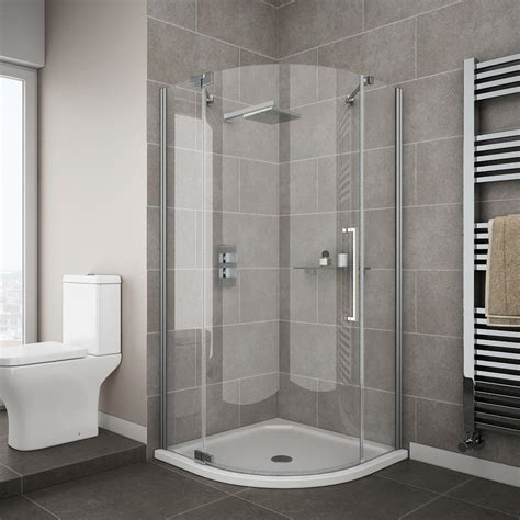 shower cubicles for small bathrooms uk apollo frameless single door quadrant enclosure at